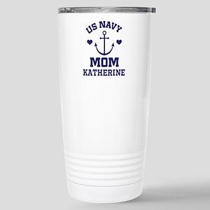 US Navy Mom Personalized Travel Mug
