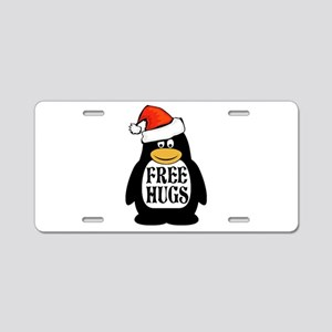 Hugs the Penguin Aluminum License Plate