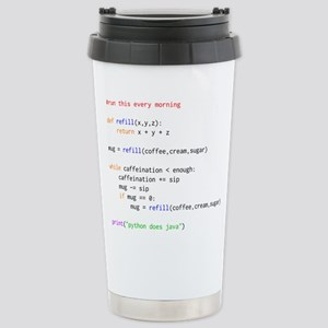 python does java Stainless Steel Travel Mug