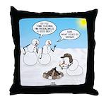 Snowscout Firebuilding Throw Pillow