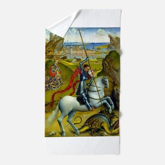 Saint George and The Dragon Beach Towel