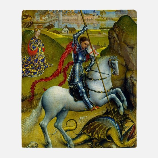 Saint George and The Dragon Throw Blanket