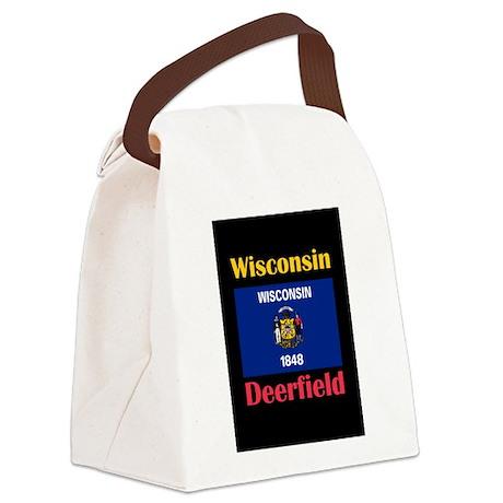 Deerfield Wisconsin Canvas Lunch Bag