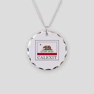 Calexit Necklace Circle Charm