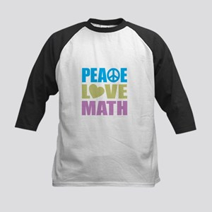 Peace Love Math Baseball Jersey