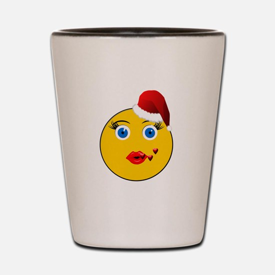 eMOG Blowing Kisses Holiday Shot Glass