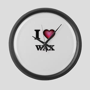 I love Wax Large Wall Clock