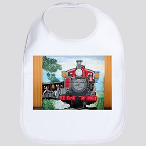 Steam train mural Baby Bib