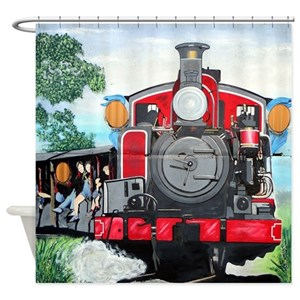 Train Carriage Shower Curtains