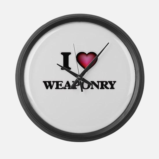 I love Weaponry Large Wall Clock