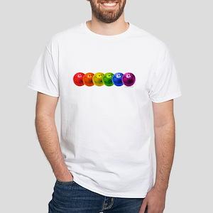 Rainbowling Balls White T-Shirt