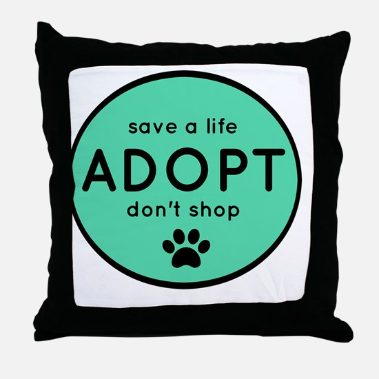 Cool Stop puppy mills Throw Pillow