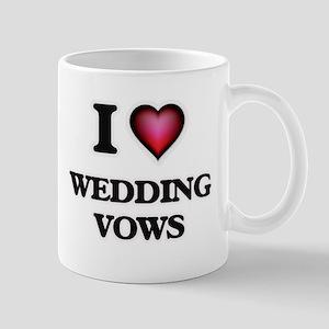 I love Wedding Vows Mugs