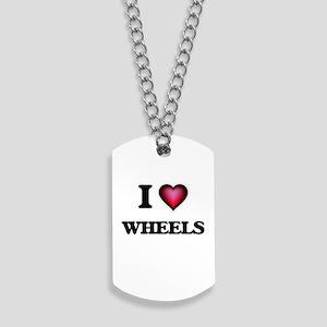 I love Wheels Dog Tags