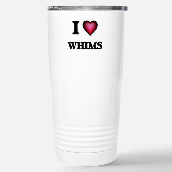 I love Whims Stainless Steel Travel Mug