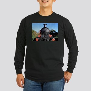 Red and black steam train engi Long Sleeve T-Shirt