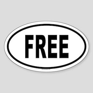 FREE Oval Sticker