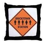 bricktown station Throw Pillow