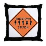 bricktown station Throw Pillow