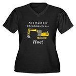 Christmas Ho Women's Plus Size V-Neck Dark T-Shirt