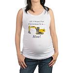 Christmas Hoe Maternity Tank Top