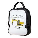 Christmas Hoe Neoprene Lunch Bag