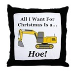 Christmas Hoe Throw Pillow