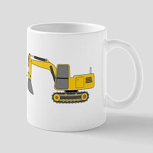 Christmas Excavator Mug