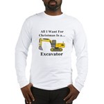 Christmas Excavator Long Sleeve T-Shirt