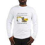 Christmas Excavator Long Sleeve T-Shirt