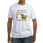 Christmas Excavator Fitted T-Shirt