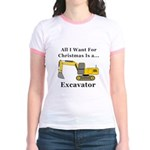 Christmas Excavator Jr. Ringer T-Shirt