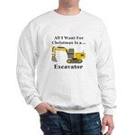 Christmas Excavator Sweatshirt