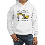 Christmas Excavator Hooded Sweatshirt