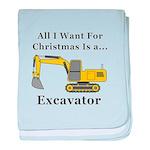Christmas Excavator baby blanket