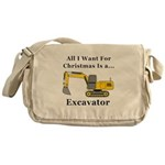 Christmas Excavator Messenger Bag