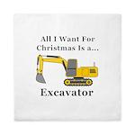 Christmas Excavator Queen Duvet