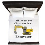 Christmas Excavator King Duvet