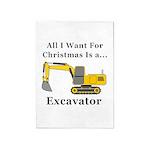Christmas Excavator 5'x7'Area Rug