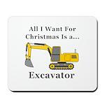 Christmas Excavator Mousepad