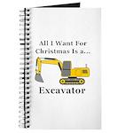 Christmas Excavator Journal