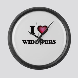 I love Widowers Large Wall Clock