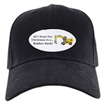 Christmas Rubber Duck Black Cap