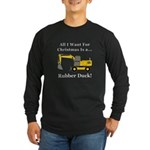 Christmas Rubber Duck Long Sleeve Dark T-Shirt