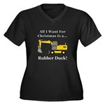 Christmas Ru Women's Plus Size V-Neck Dark T-Shirt