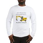 Christmas Rubber Duck Long Sleeve T-Shirt
