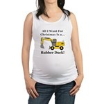Christmas Rubber Duck Maternity Tank Top