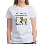Christmas Rubber Duck Women's T-Shirt
