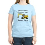 Christmas Rubber Duck Women's Light T-Shirt