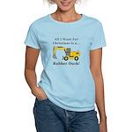 Christmas Rubber Duck Women's Light T-Shirt
